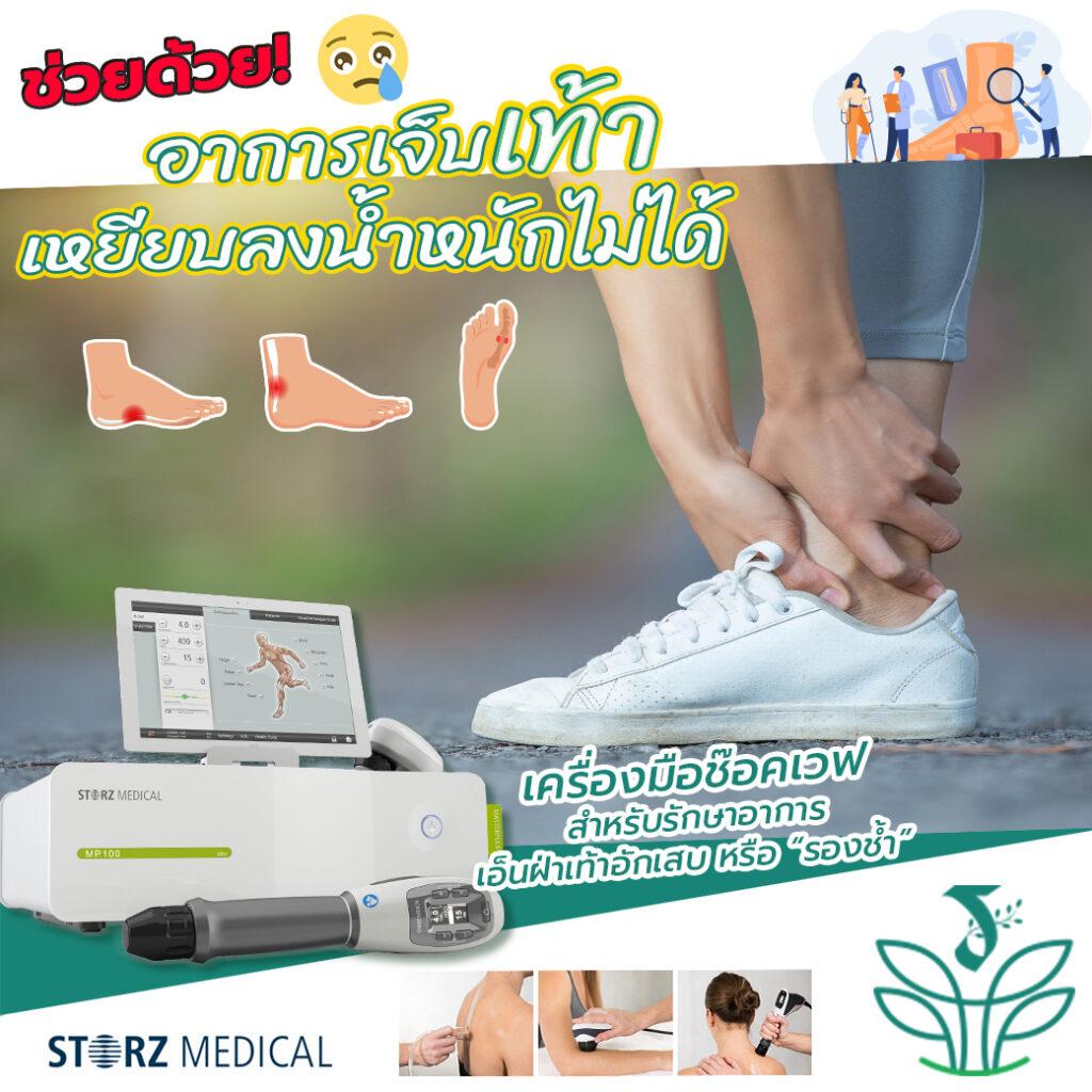 ช่วยด้วย!! เจ็บเท้า เหยียบลงน้ำหนักไม่ได้